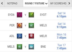 Round 7 Fixture